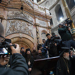 Dignitaries celebrate the renovation of the Edicule, which houses Jesus' tomb within the Church of the Holy Sepulchre.